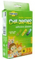 Pack of 75 washproof children's plasters (Code 4348)